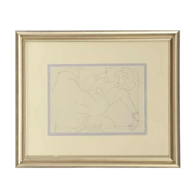 Henri Matisse Offset Lithograph of a Line Drawing