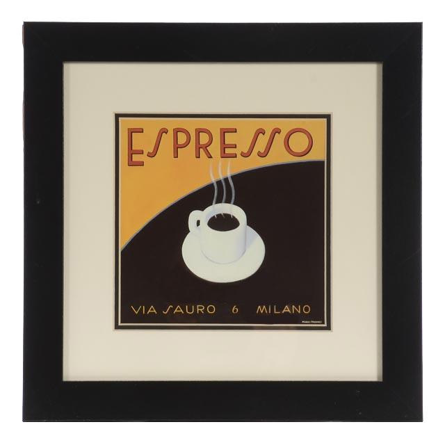 "Marco Fabiano Offset Lithograph ""Espresso"""