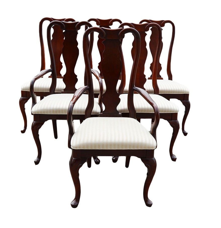 Sumter cabinet company queen anne style dining room chairs ebth - Queen anne dining room furniture ...