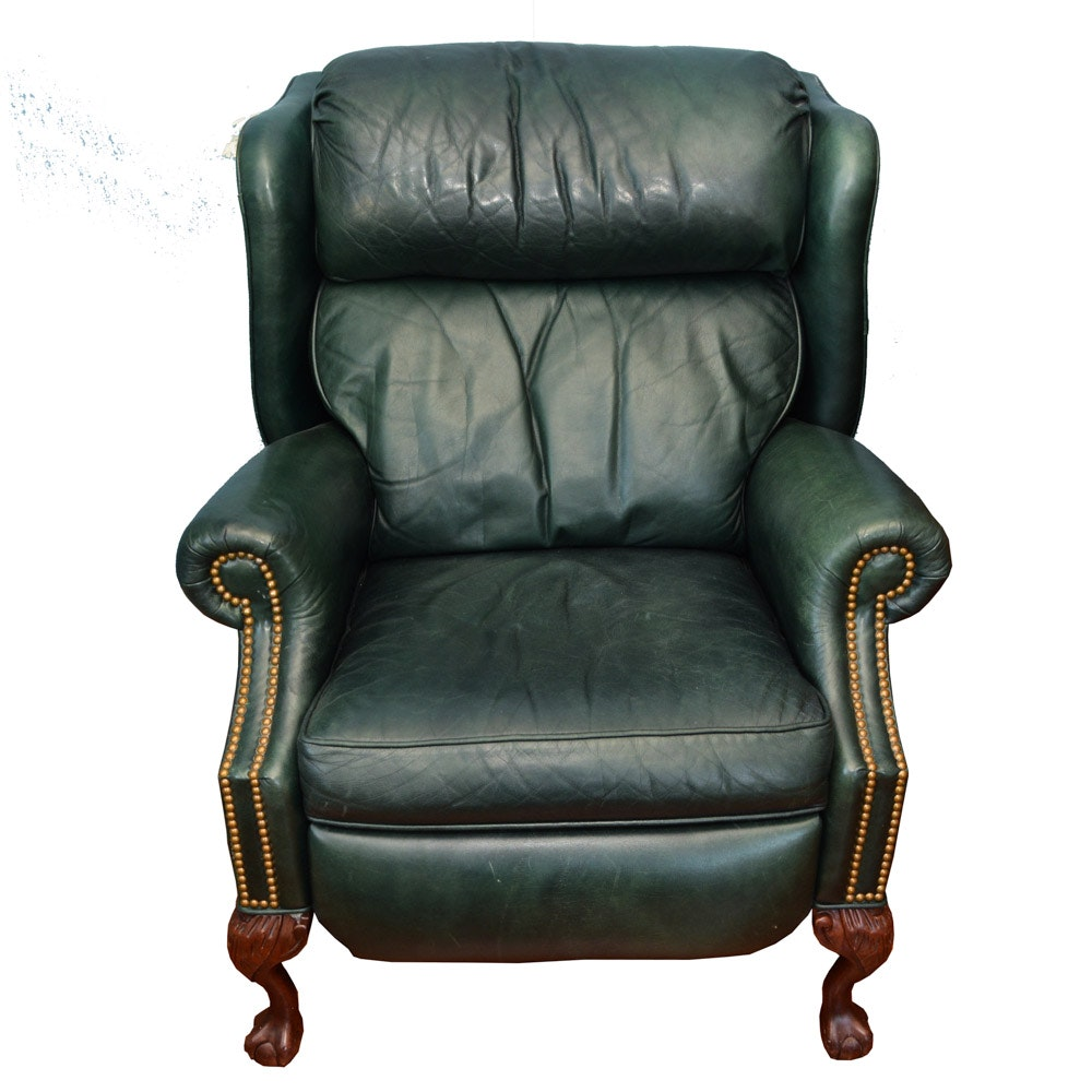 MotionCraft Green Leather Chair
