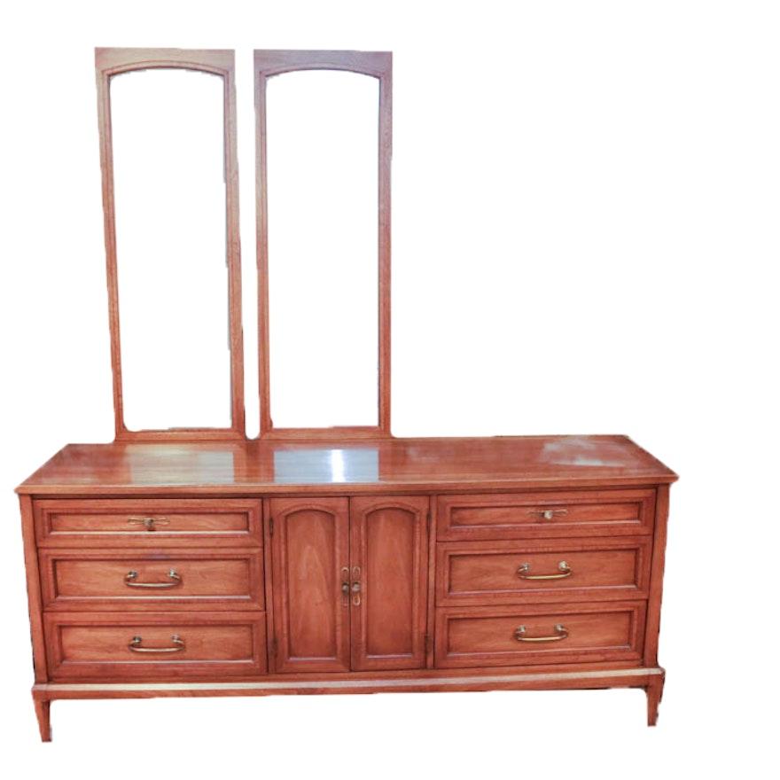 White Fine Furniture Mid Century Dresser With Mirrors
