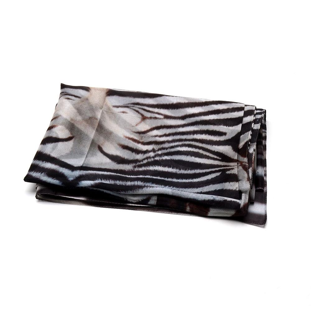 Silk Zebra Print Scarf