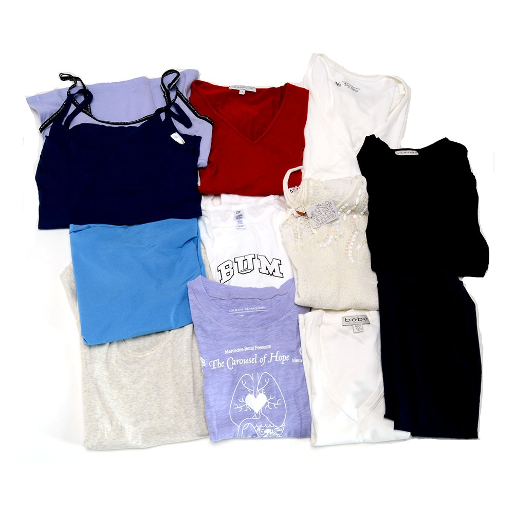Assorted Shirts and Tube Dress