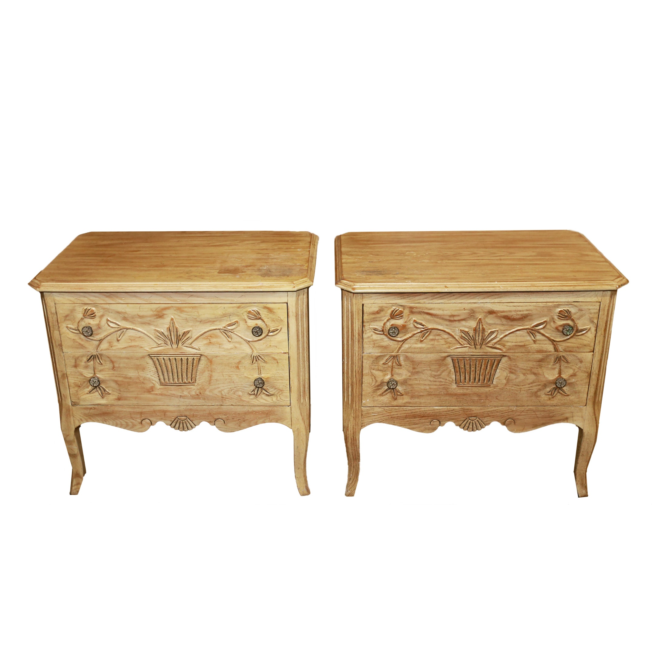 Davis Cabinet Company French Provincial Style End Tables ...