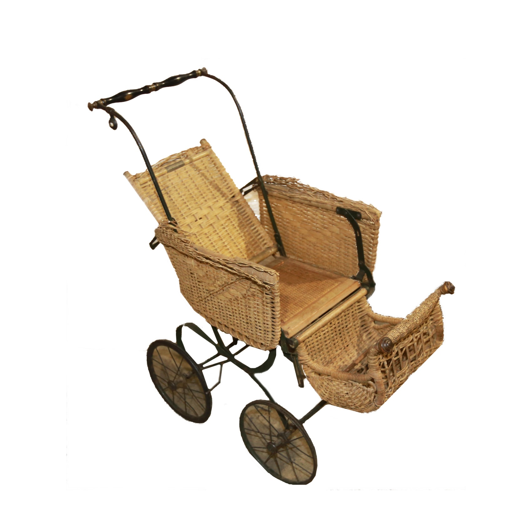 Antique H.N. Thayer Co. Decorative Wicker Baby Carriage