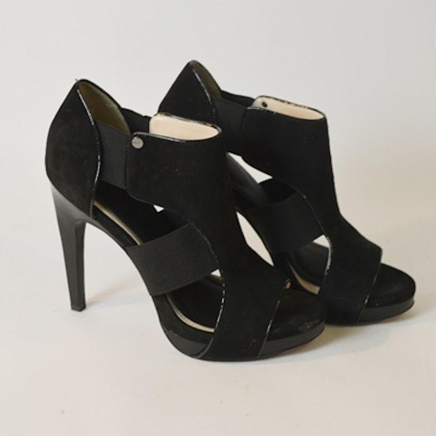 905b393f9ab Calvin Klein Sierra Black Suede Women s Heels   EBTH
