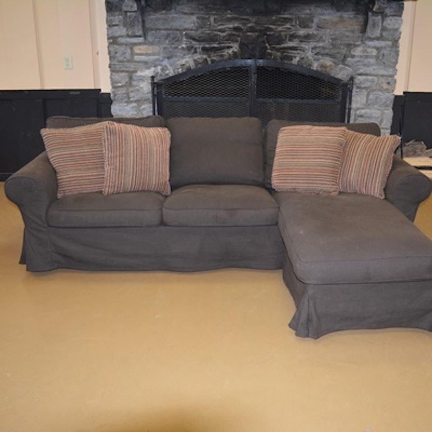 Ikea Ektorp Three Seat Sectional Sofa With Chaise Lounge