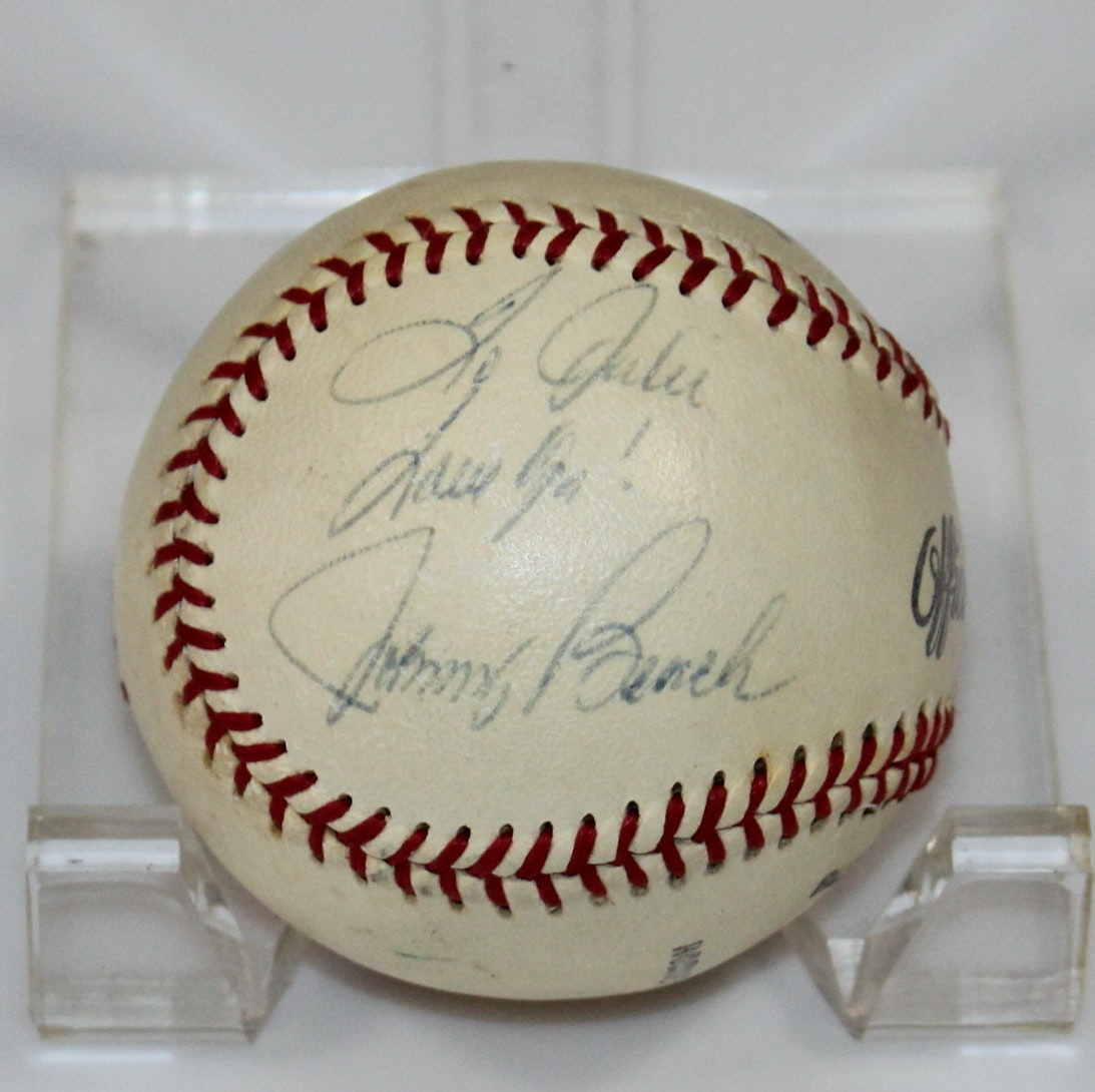 Baseball Autographed by Johnny Bench