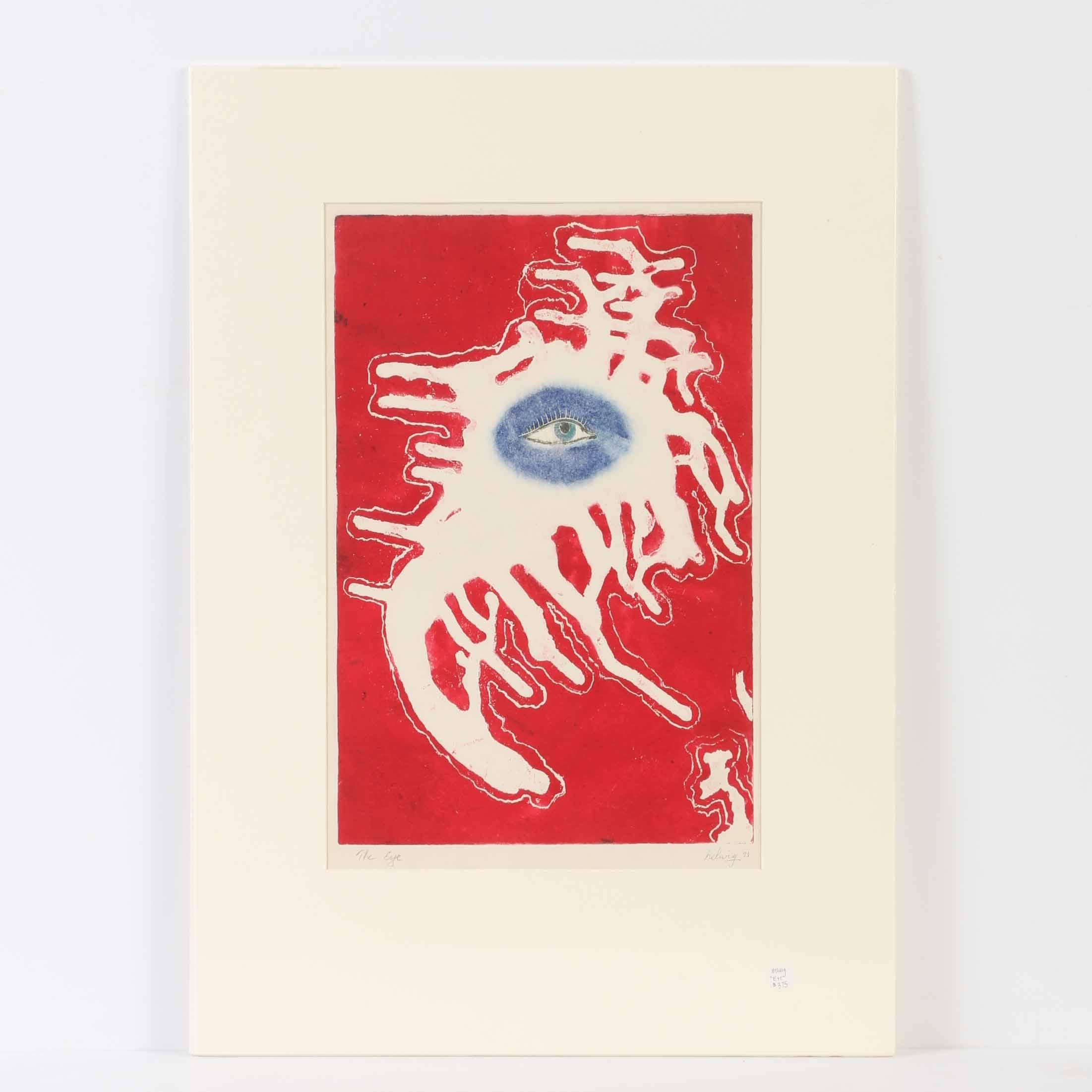 """Arthur Helwig Etching """"The Eye"""""""
