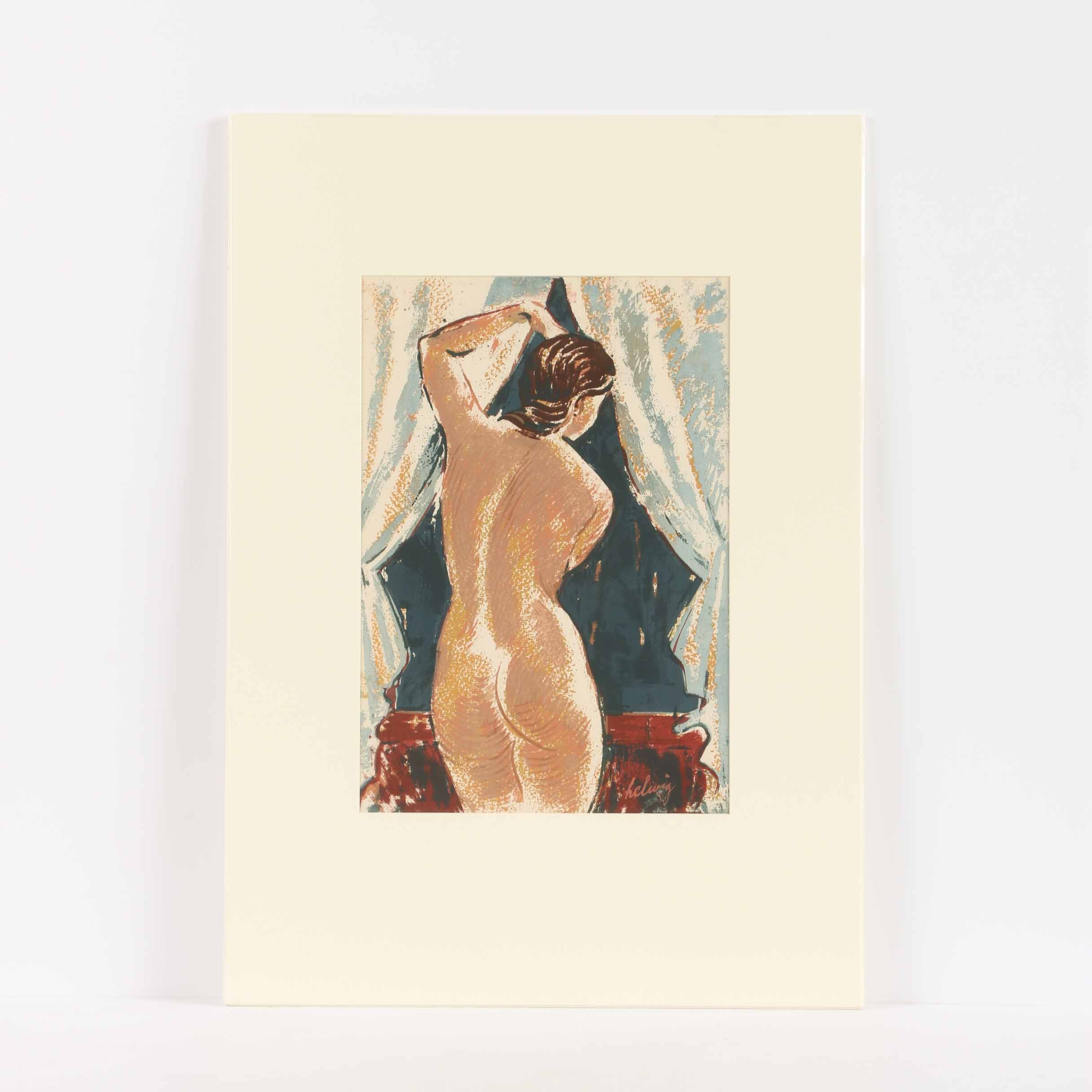 """Arthur Helwig Serigraph """"Nude at the Window"""""""