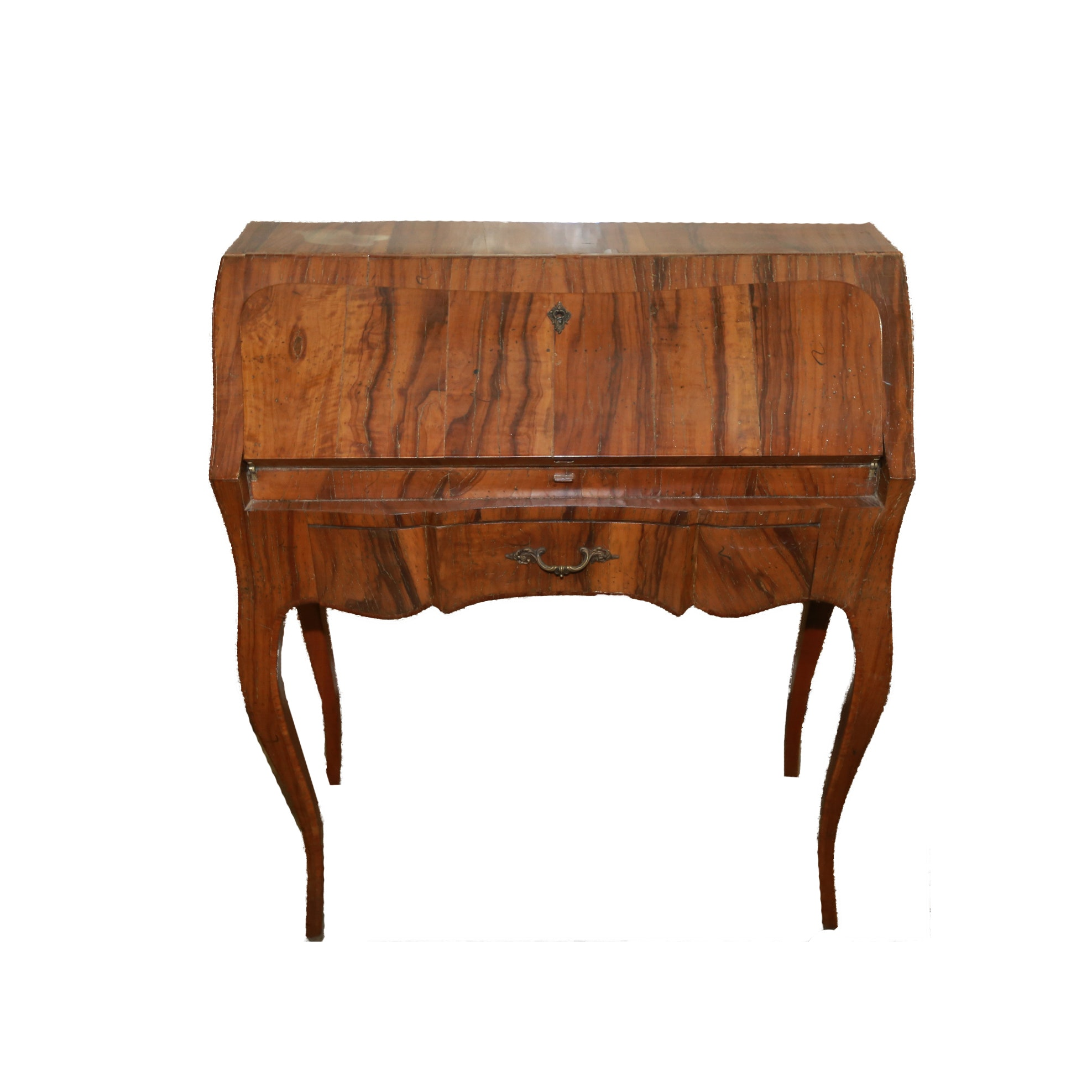 Antique Louis XV Style Exotic Wood Ladies Writing Desk