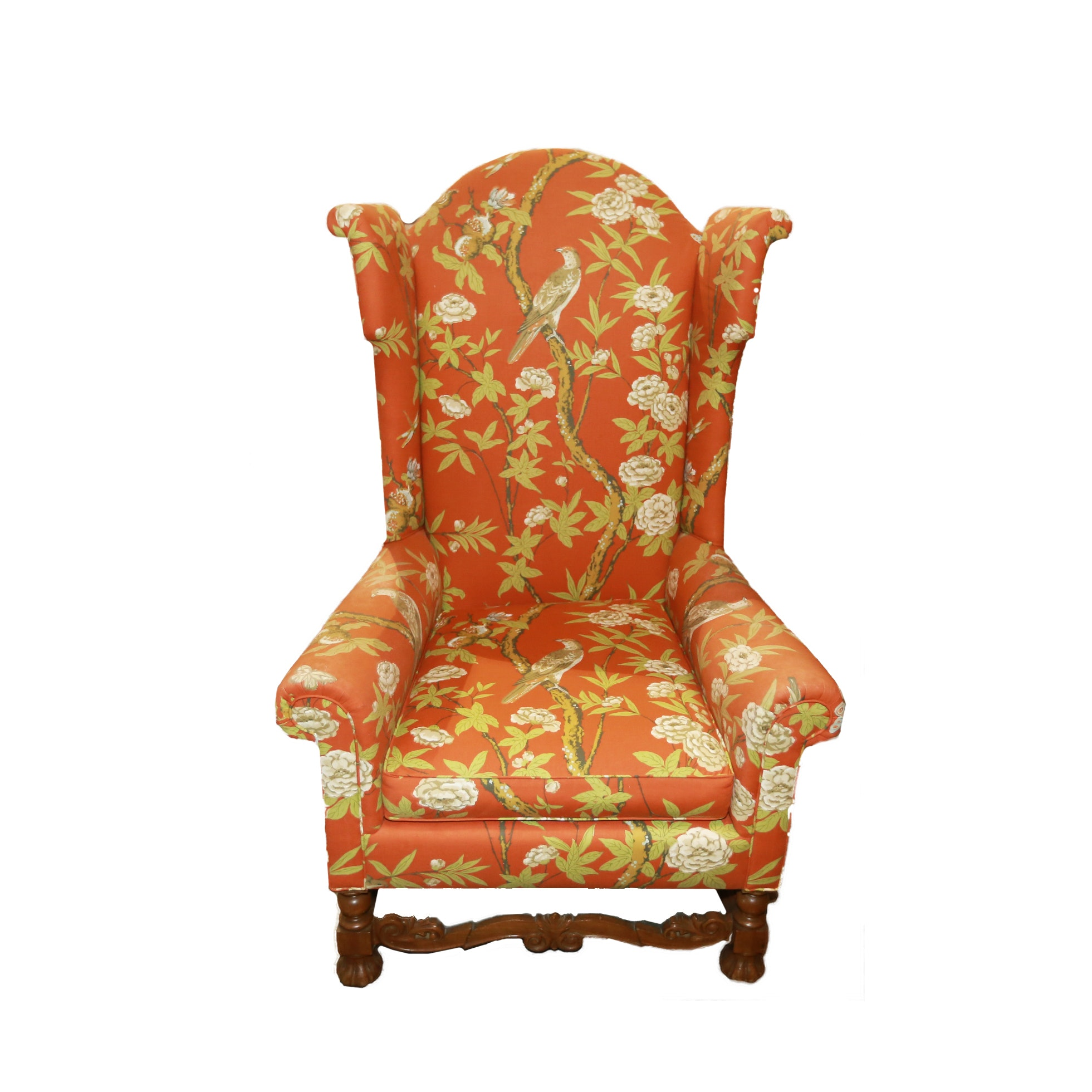 Upholstered High Back Armchair