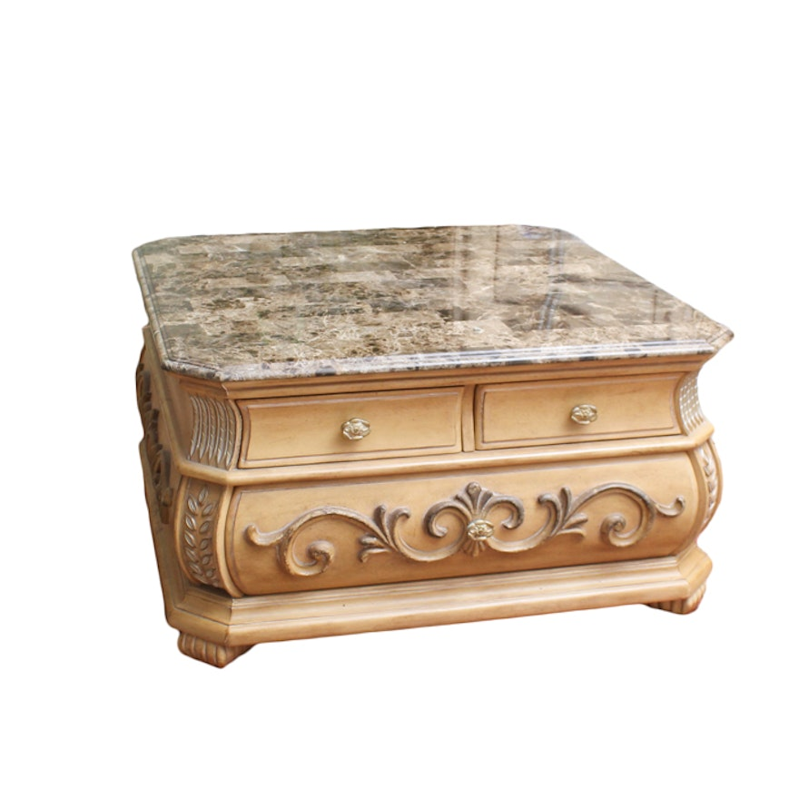 American Signature Marble Top Coffee Table