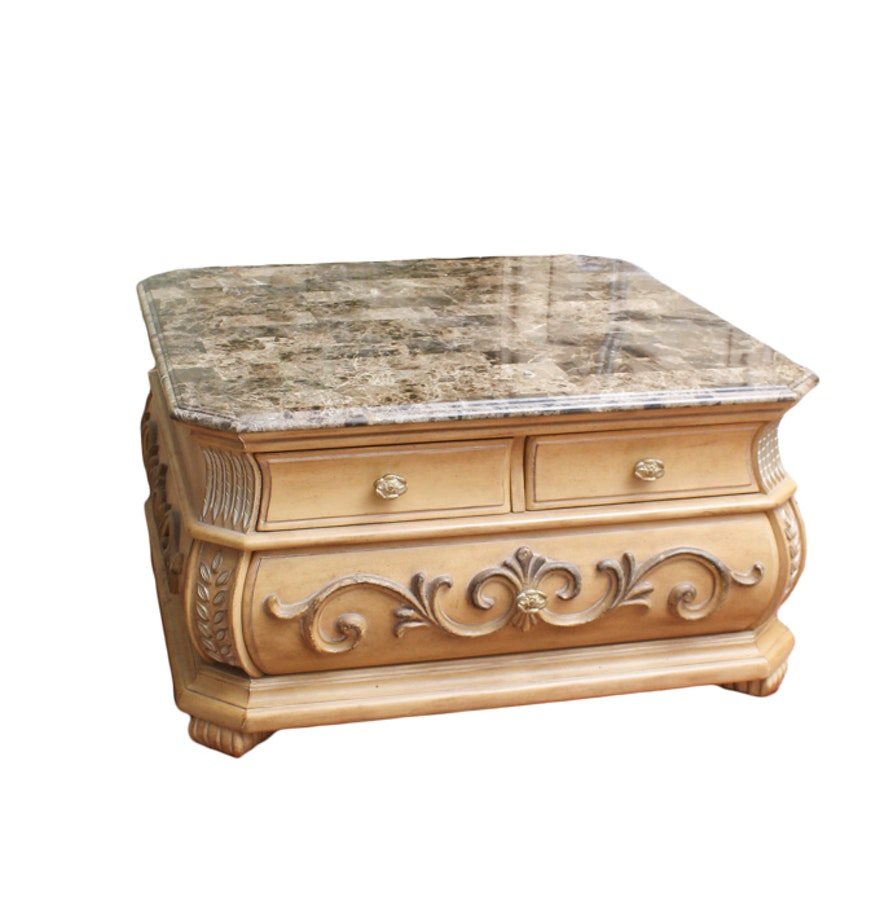 American Signature Marble Top Coffee Table ... - American Signature Marble Top Coffee Table : EBTH