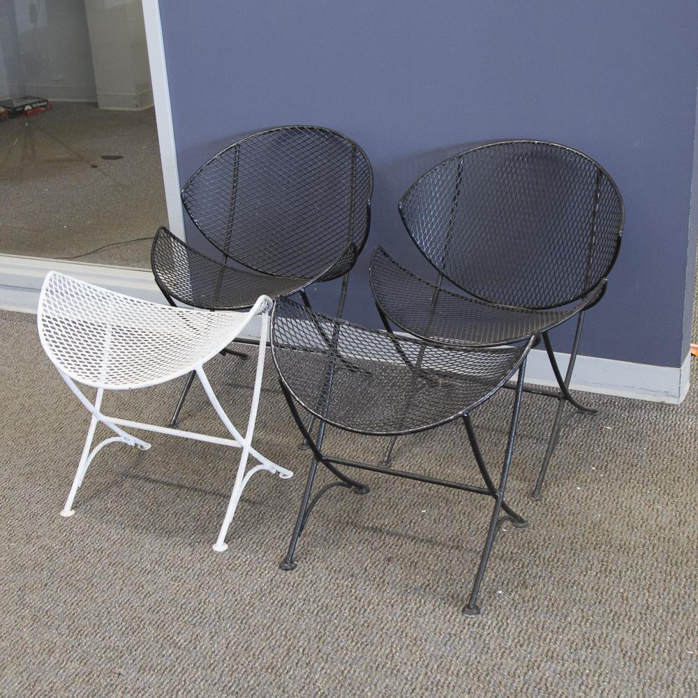 salterini outdoor furniture. Mid-Century Modern Salterini Orange Slice Patio Chairs And Ottomans Outdoor Furniture