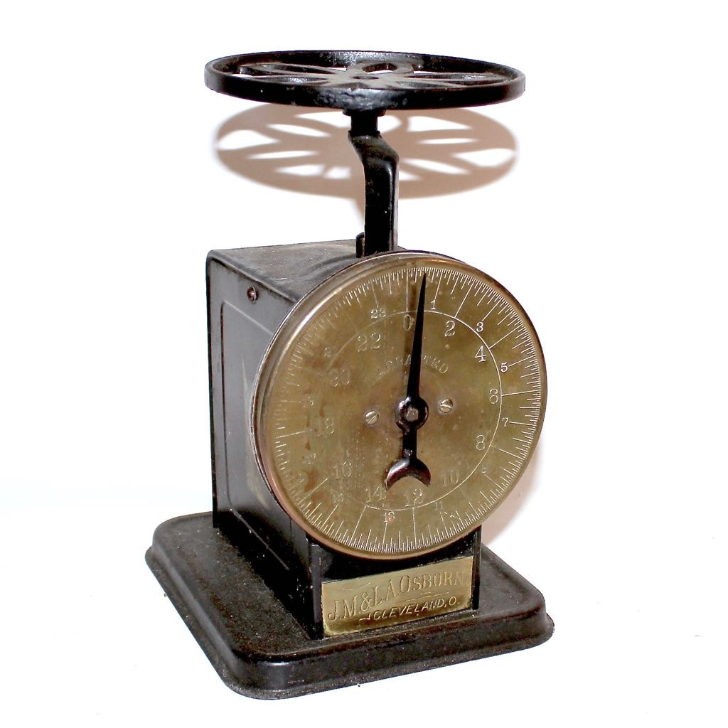 Antique Brass Face Weight Scale