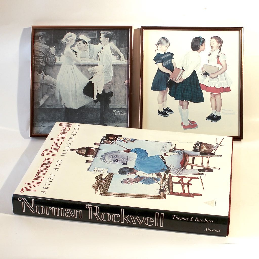 "Coffee Table Art Books: 1970 ""Norman Rockwell Artist And Illustrator"" Coffee Table"