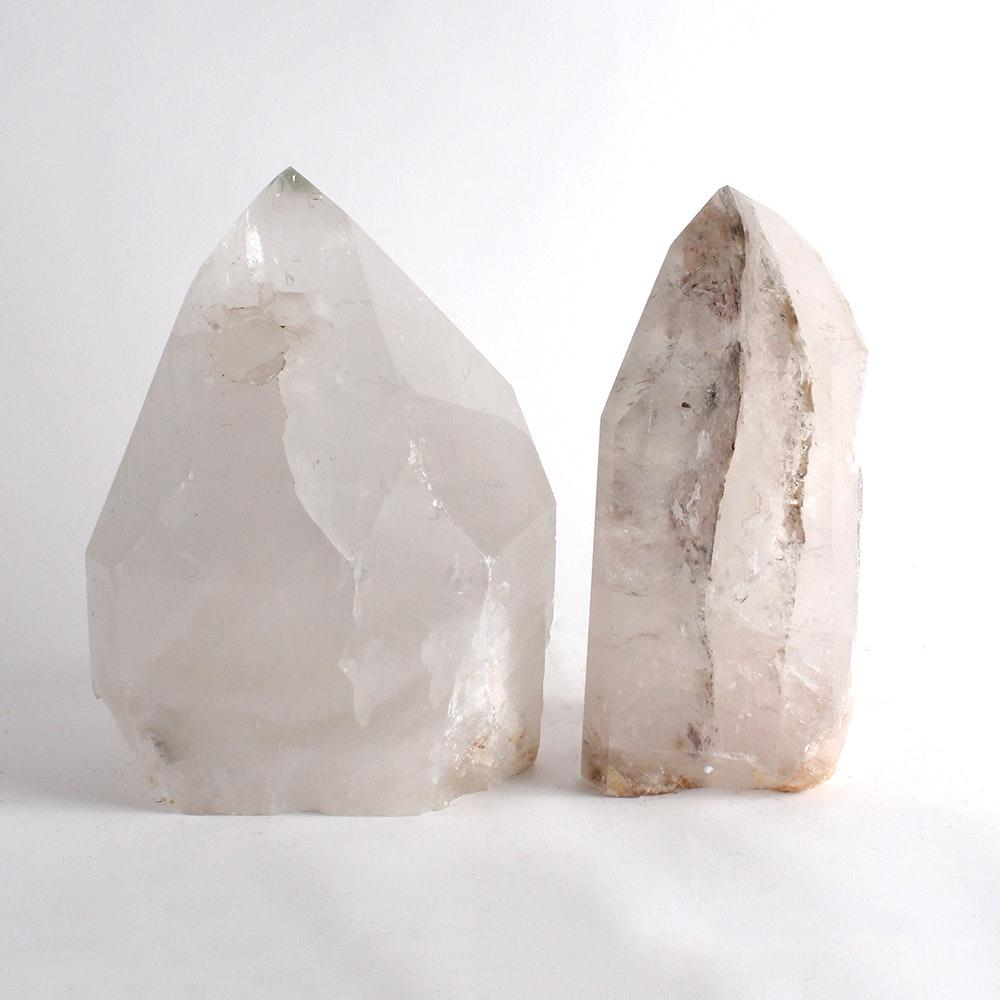 Polished Quartz Crystal Specimens