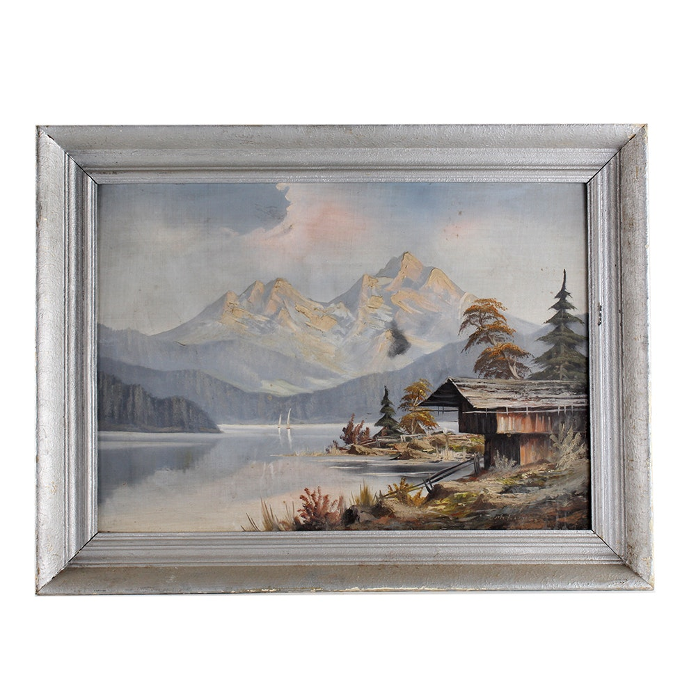 Framed and Signed Original Landscape Oil Painting