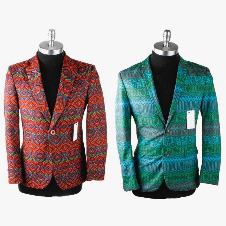 Pair of Men's Printed Blazers
