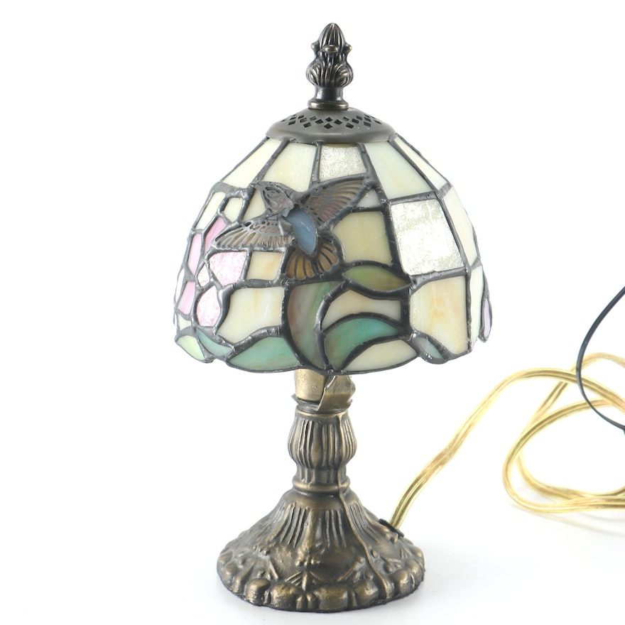 Stained Glass Hummingbird Tiffany Style Desk Lamp