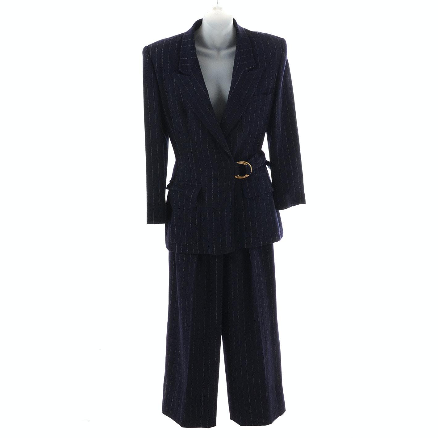 Vintage Anne Klein Wool Pantsuit