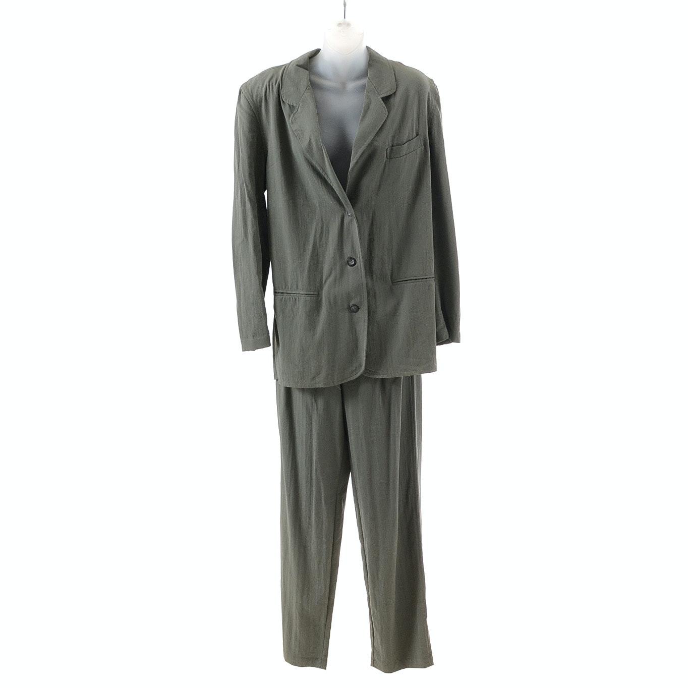 1990s Calvin Klein Sport Pant Suit