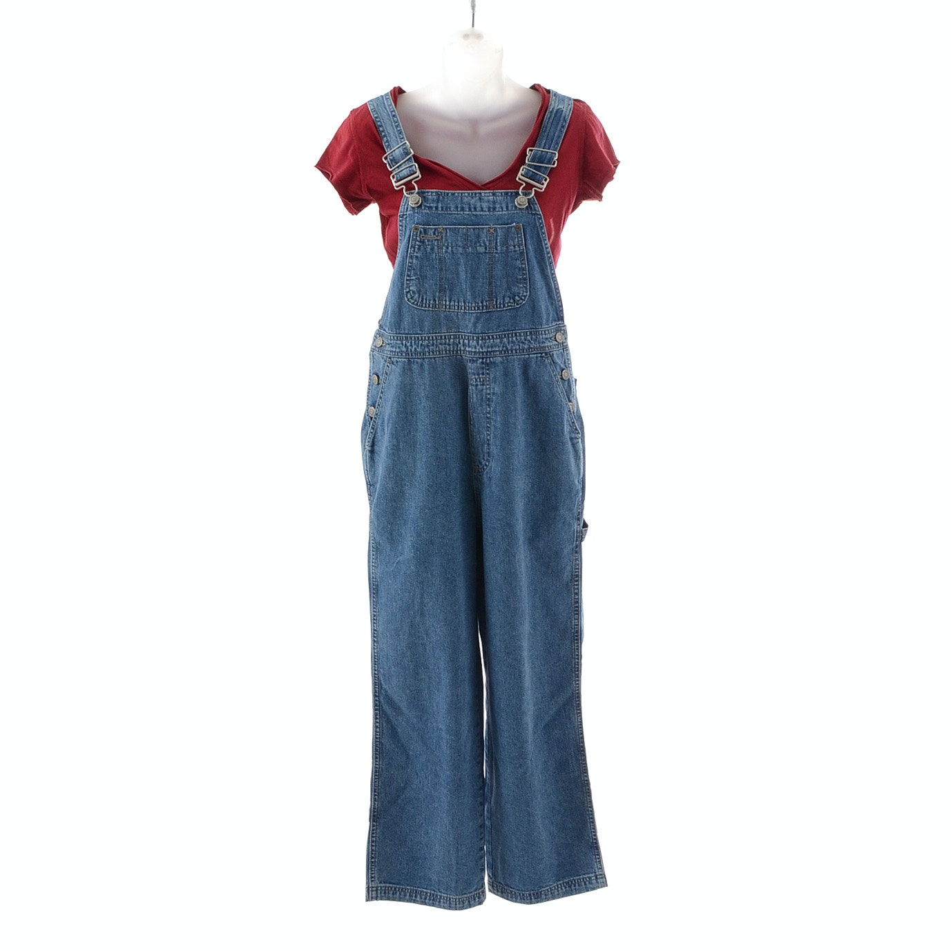 "Gap ""Red"" T-shirt and Overalls"