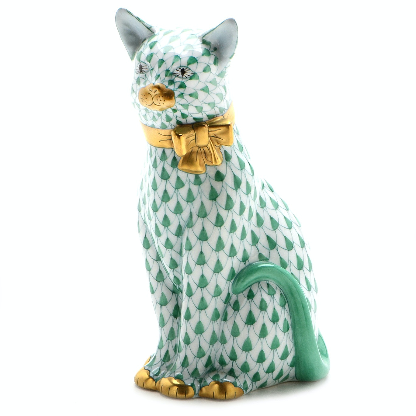 Herend of Hungary Porcelain Sitting Cat