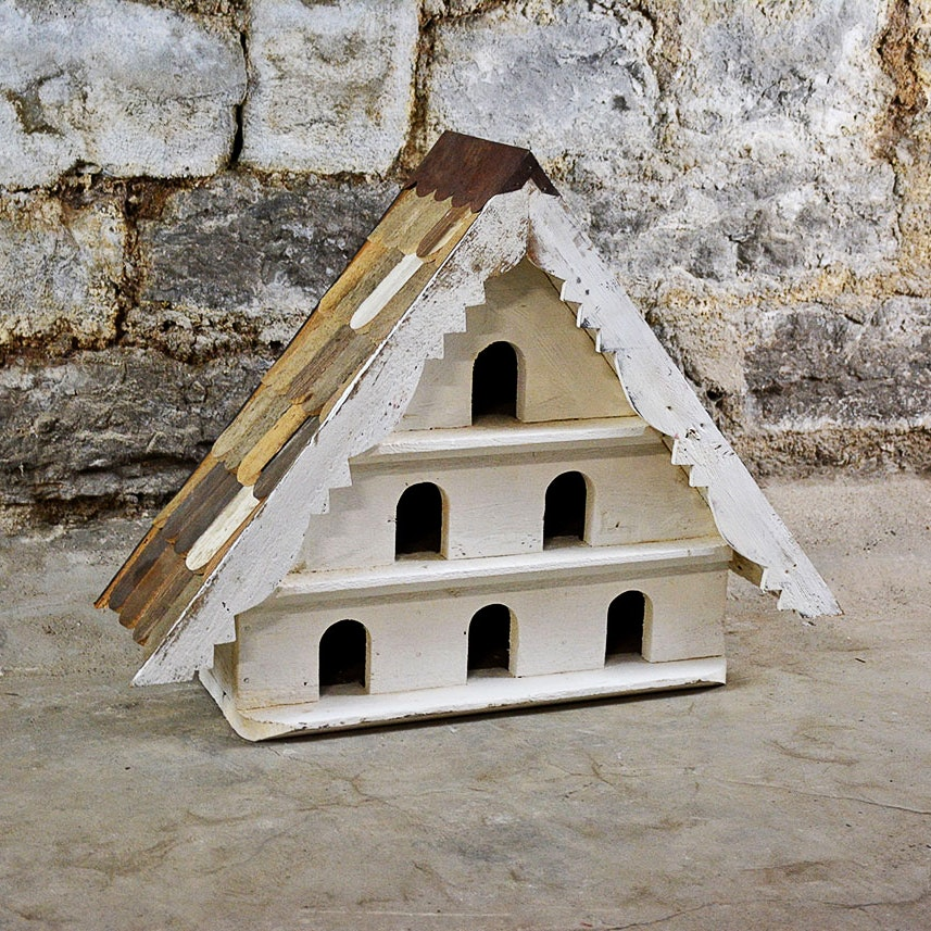Hand Crafted Three Tier Birdhouse