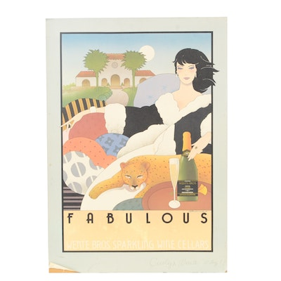 """Stephen Haines Hall Wente Bros. """"Fabulous"""" Poster"""