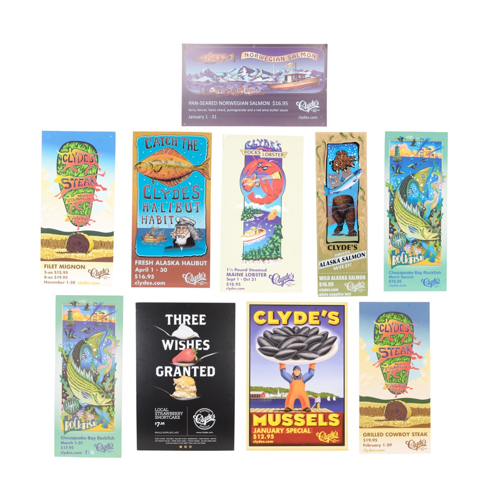 Ten Clyde's Restaurant Promotional Posters