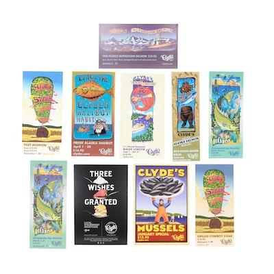 Ten Clyde's Restaurant Promotional Posters