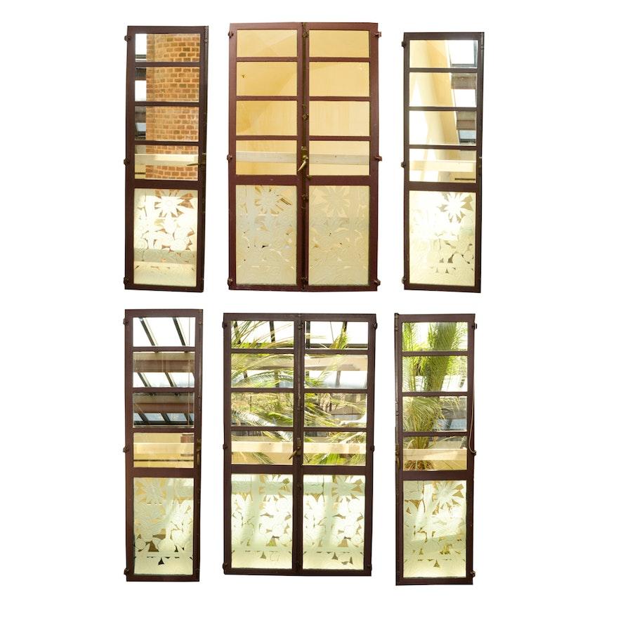 Etched Glass Pane Doors Ebth