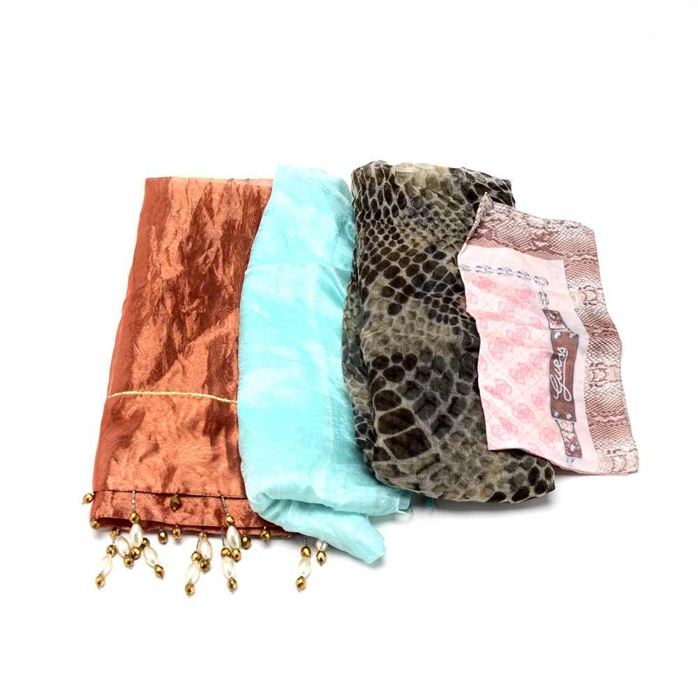 Four Assorted Scarves