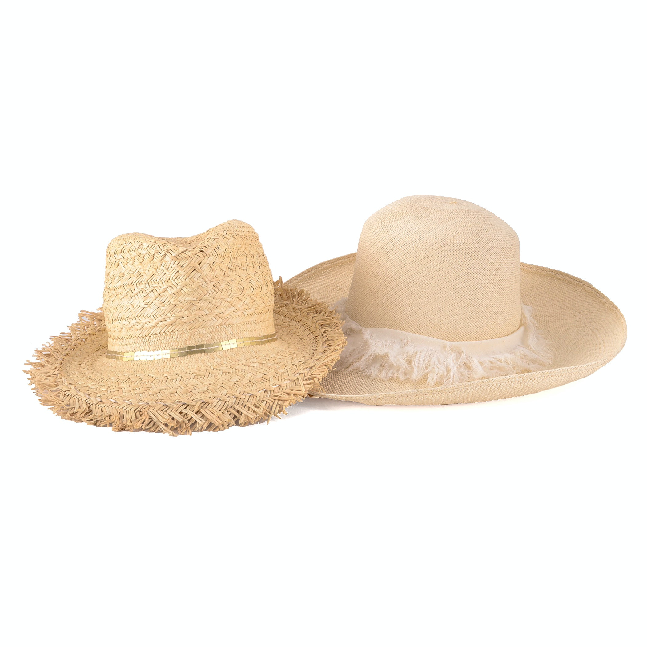 Two Lola Straw Hats
