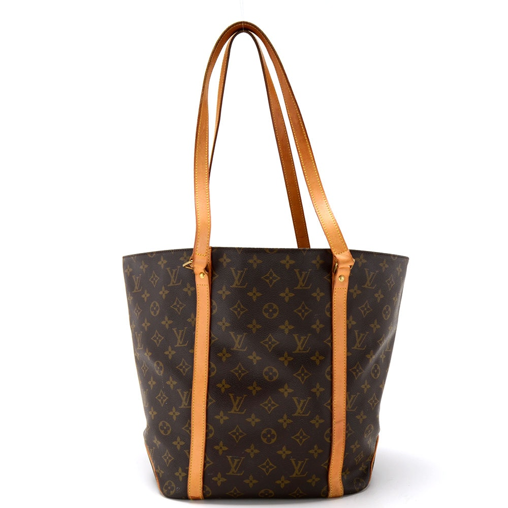 Louis Vuitton Signature Monogram Canvas Tote with Leather Straps