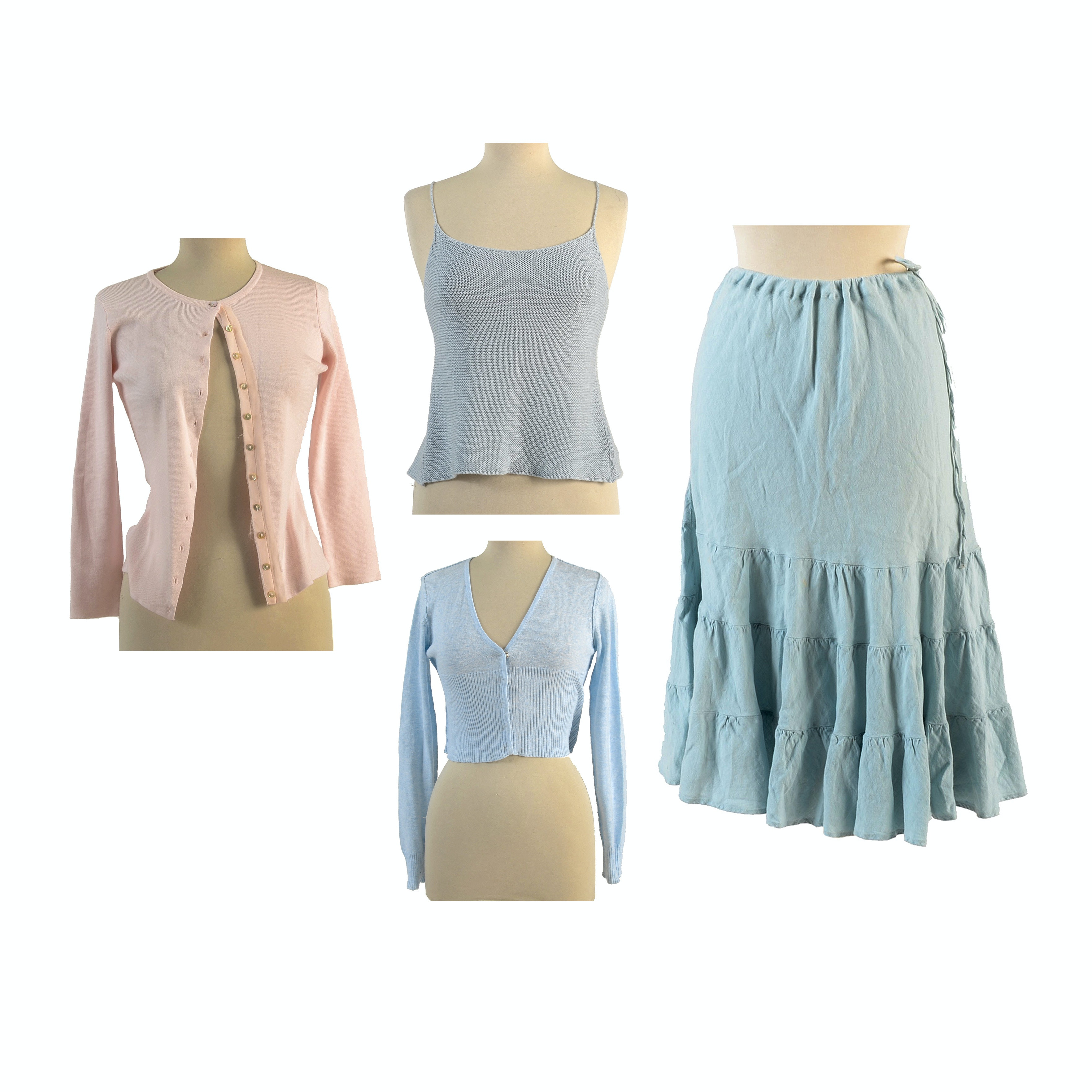 Assorted Light Blue and Pink Clothes