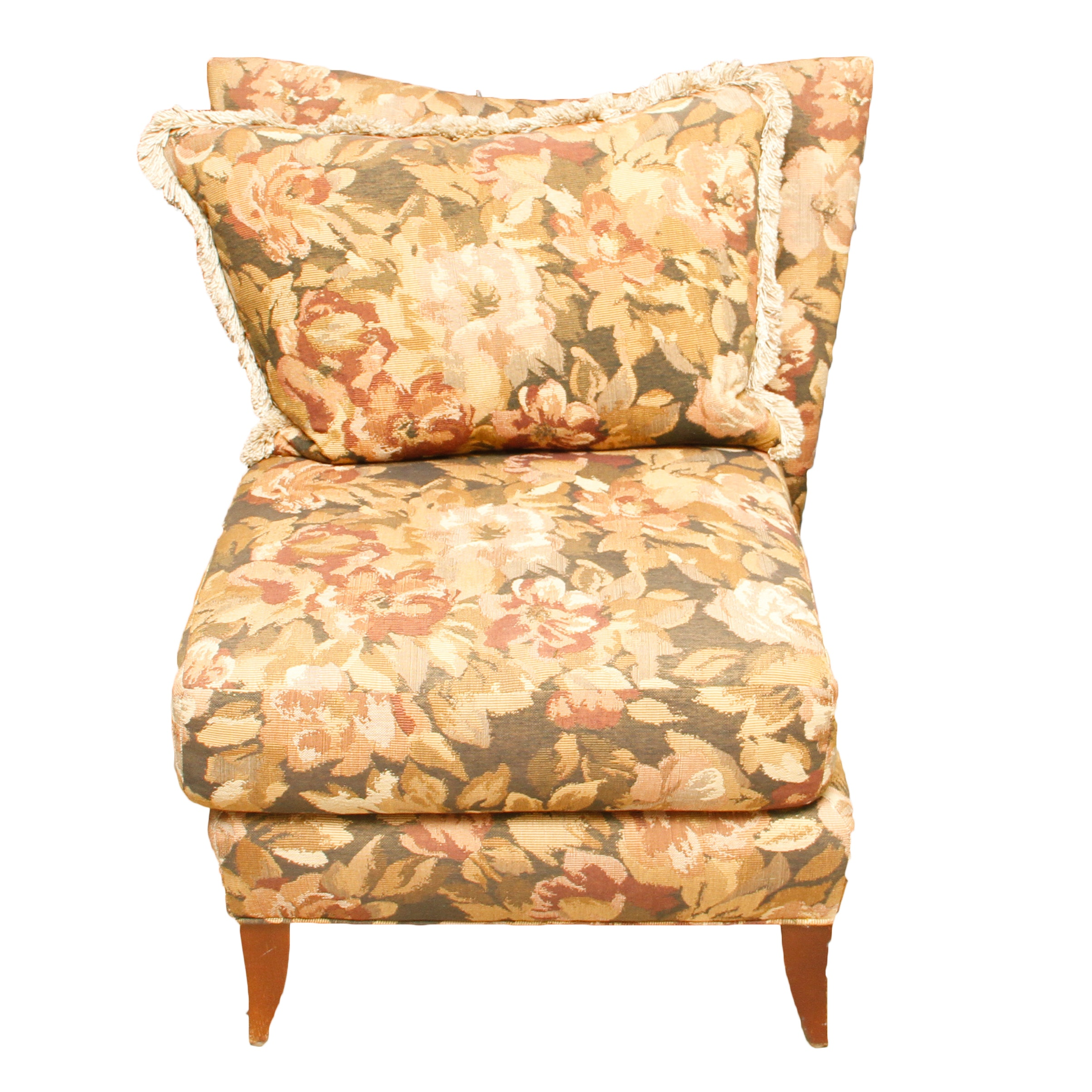 Floral Upholstered Accent Chair
