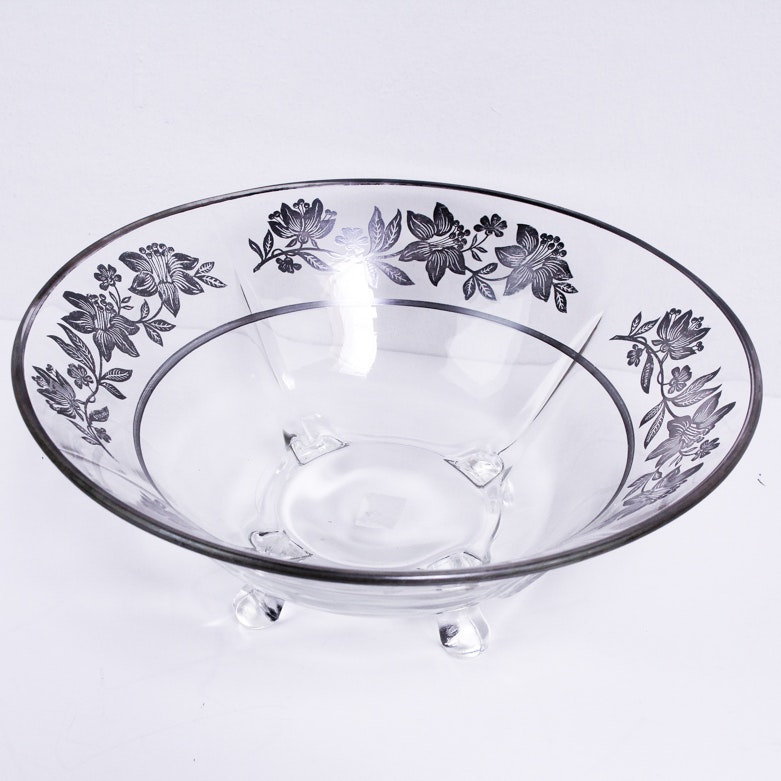 Sterling Silver and Glass Bowl