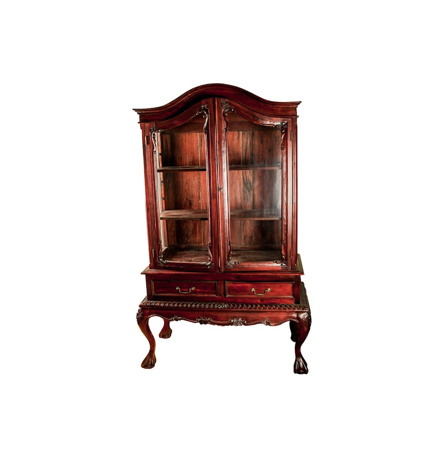 Chippendale China Cabinet Chippendale Style China Cabinet Ebth