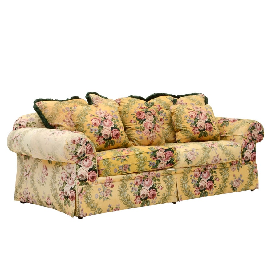 Chintz sofa chintz sofa same time next year set design for Chintz couch