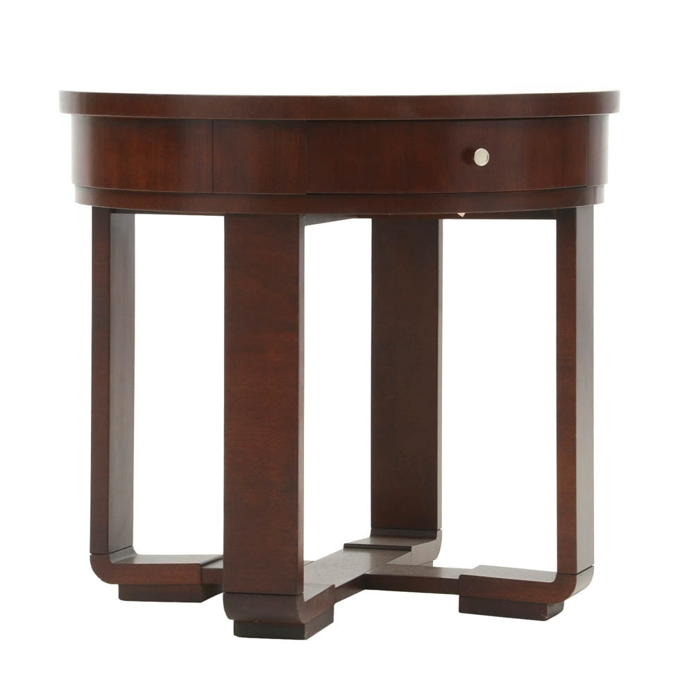 Ralph Lauren Mahogany Side Table