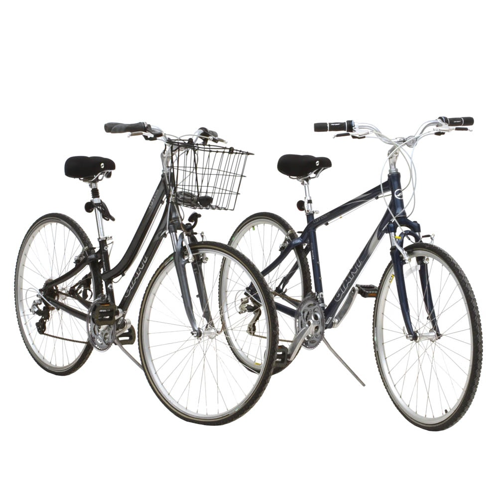 Pair of Giant Cypress Bicycles