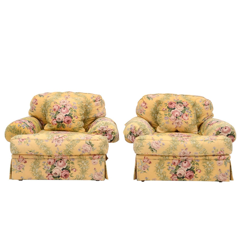 Pair of Isenhour Custom Chintz Chairs Susan Had in Garden City