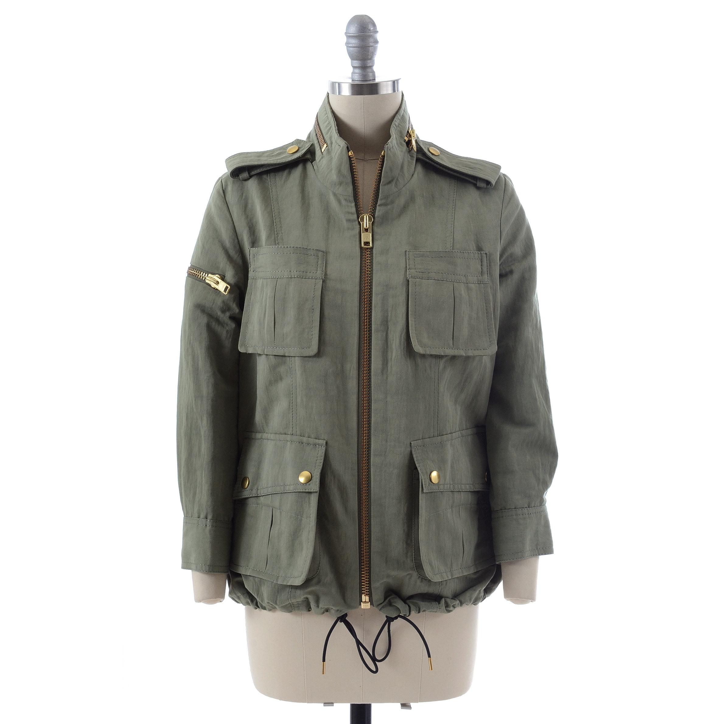 Smythe Les Vestes Olive Green Zipper Front Jacket