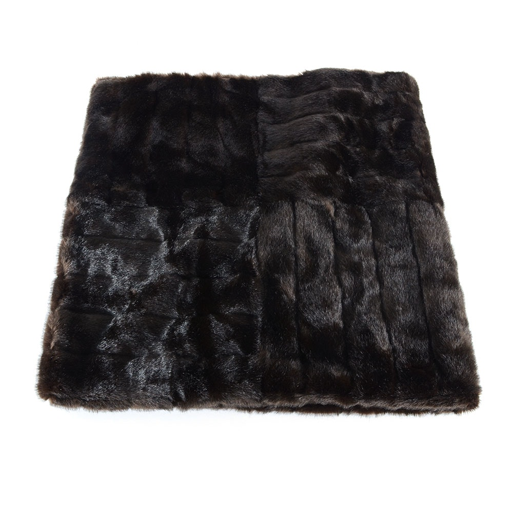 Faux Mink Fur Throw Blanket