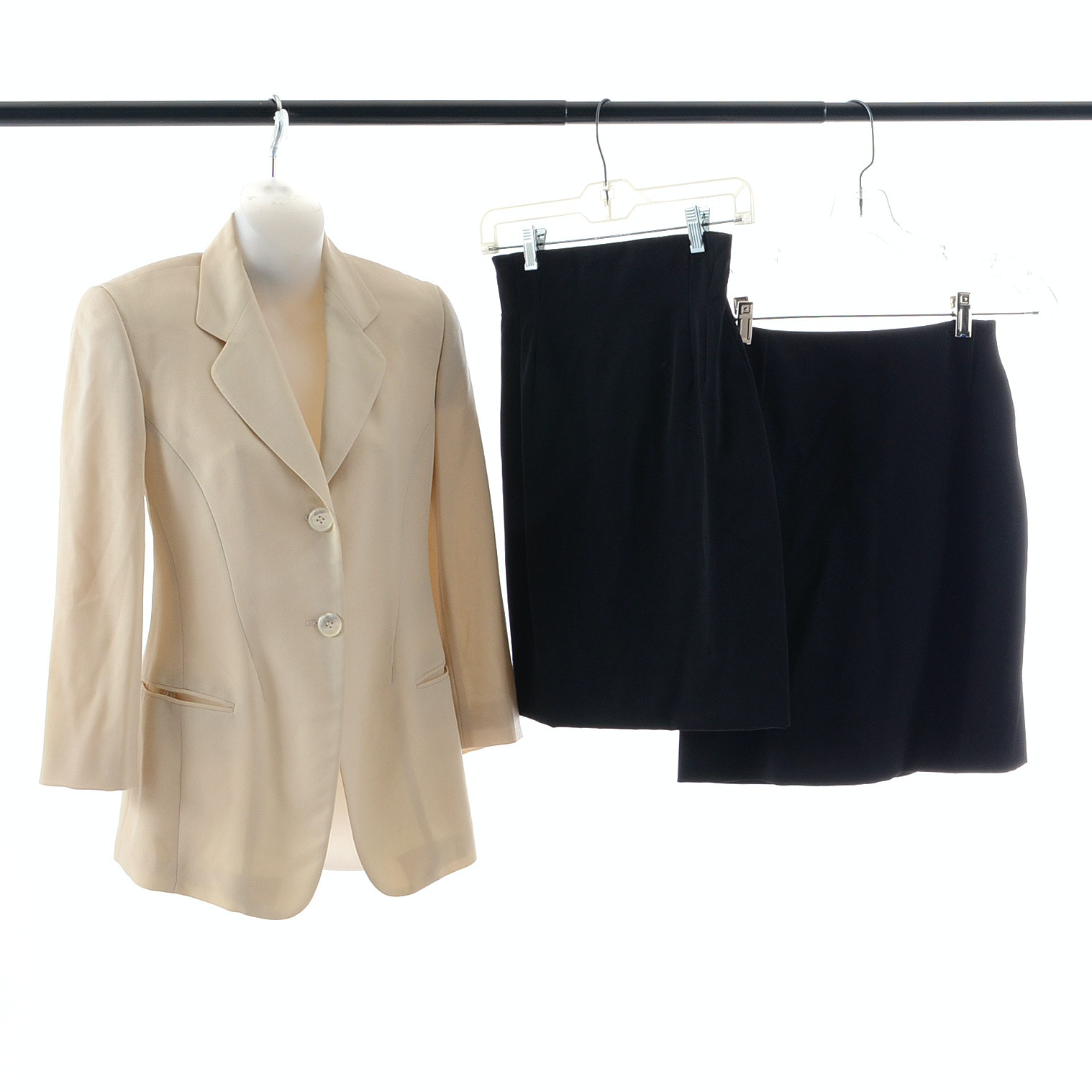 Donna Karan Blazer and Two Black Skirts