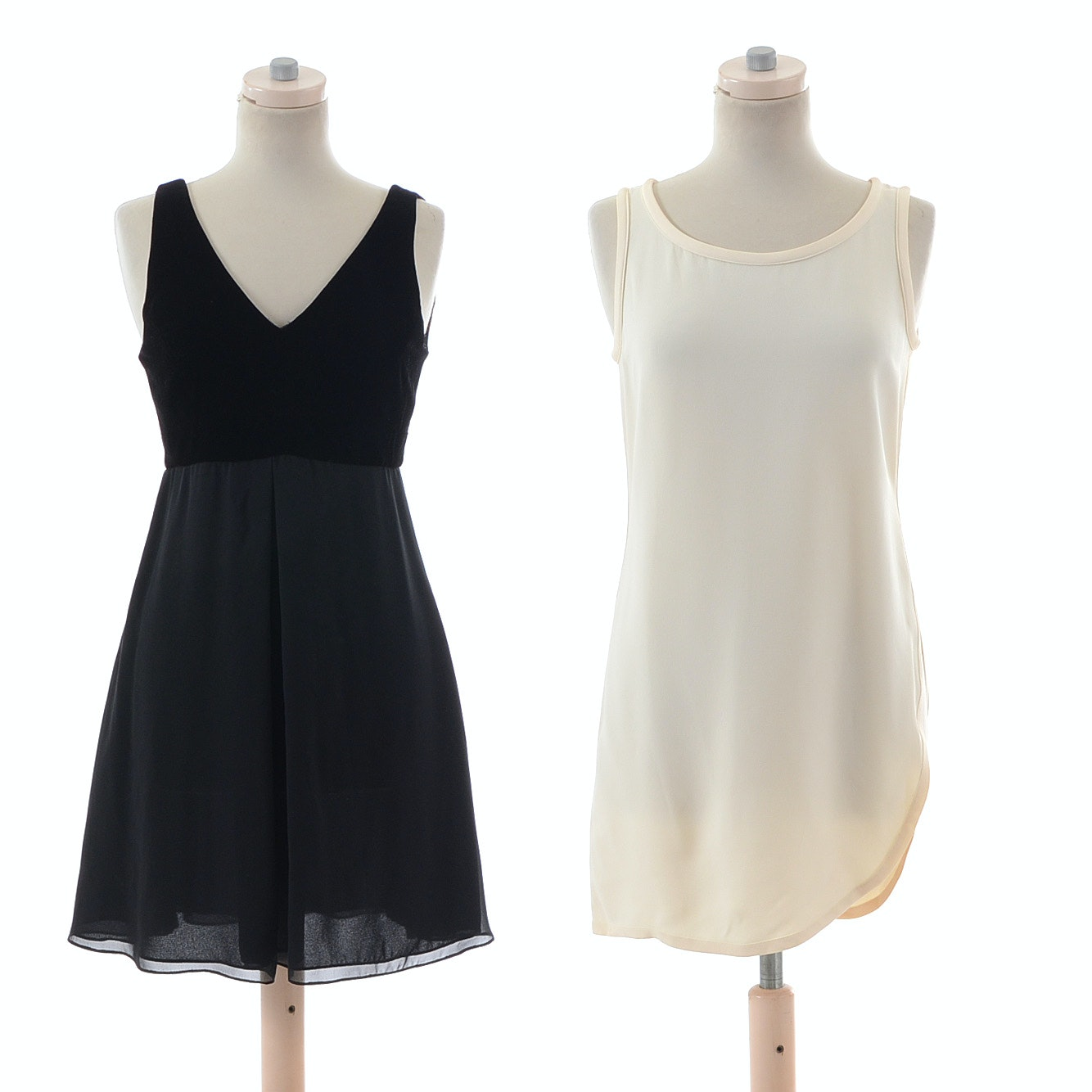Little Black Dress and Off-white Tunic