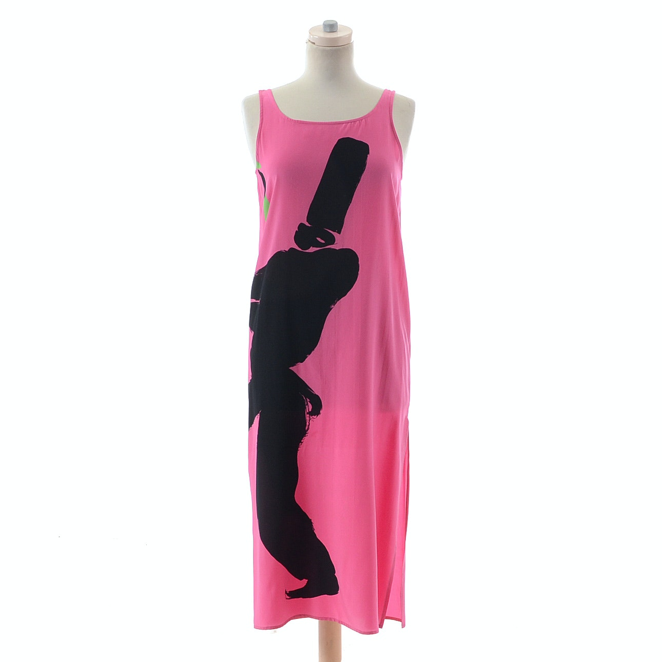 DB2 Cygne Design Silk Print Sleeveless Dress